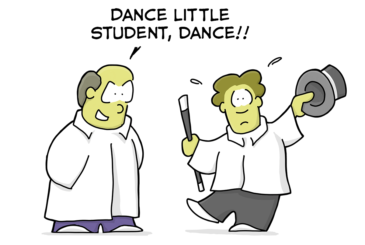 Student being abused cartoon